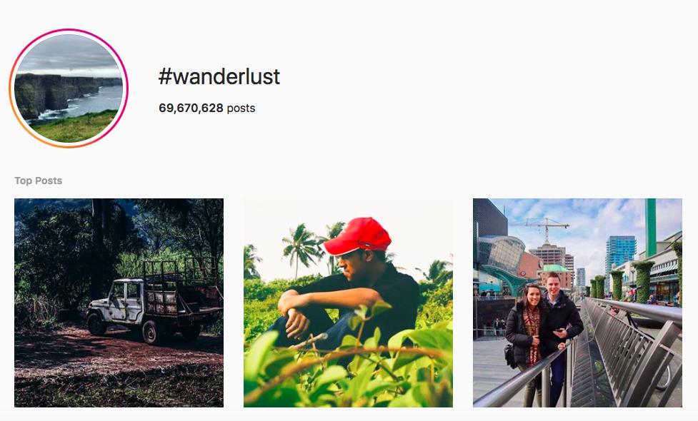 best outdoor instagram hashtags #wanderlust