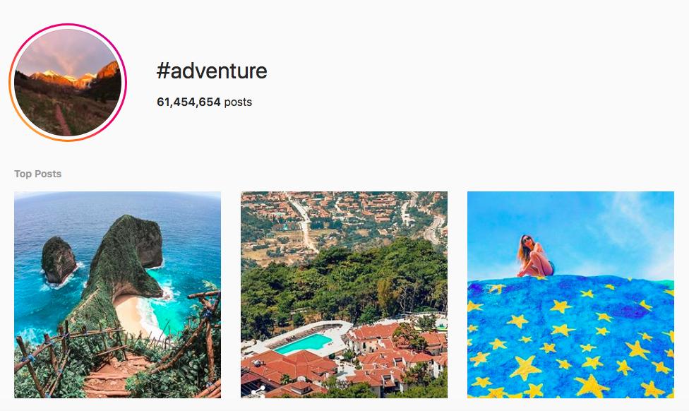 Best outdoor instagram hashtags adventure