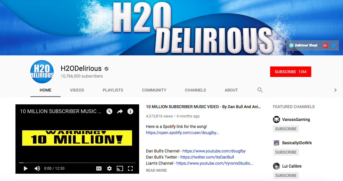 H2ODelirious mobile game influencers
