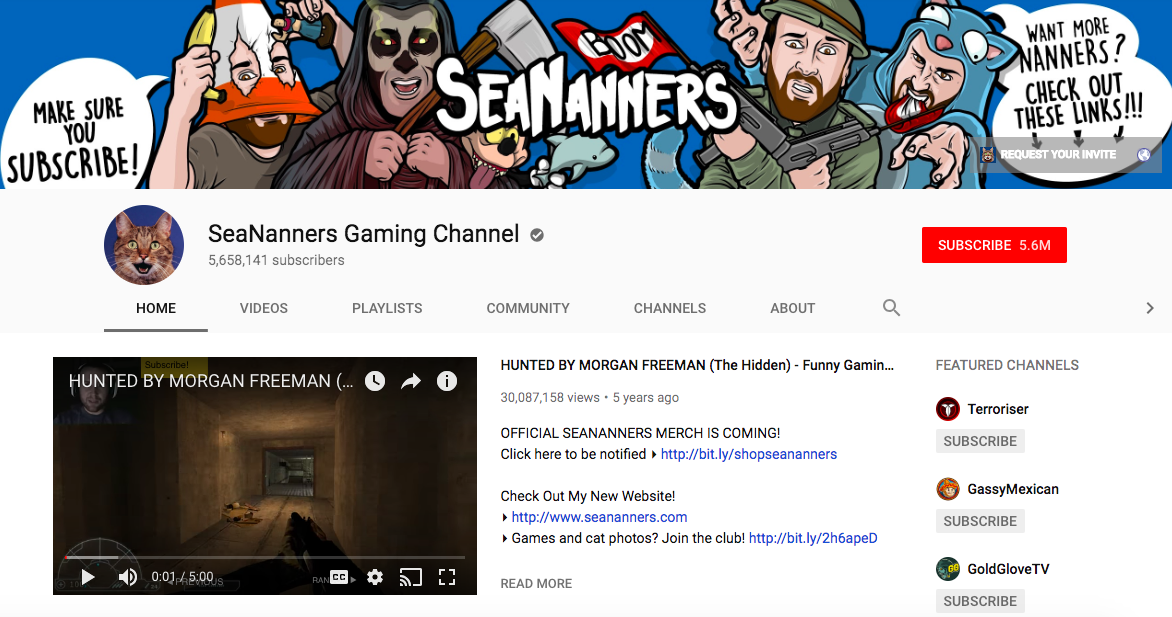SeaNanners Gaming Channel mobile game influencers