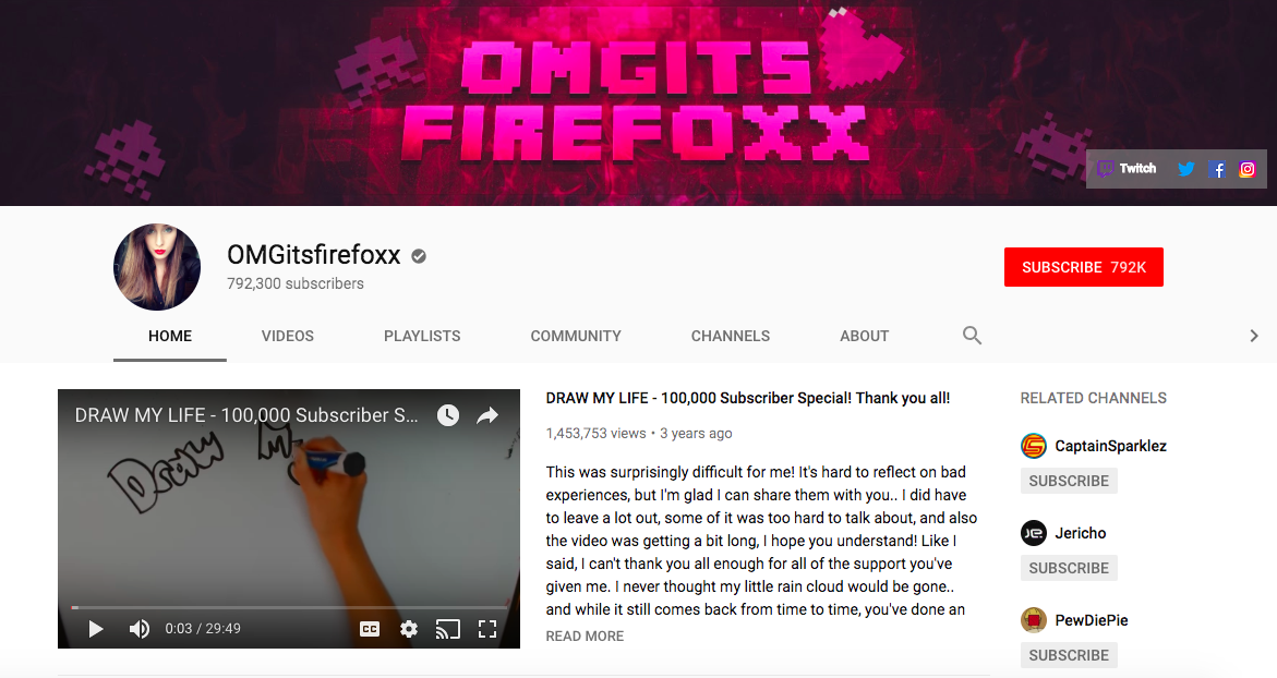 OMGitsfirefoxx mobile game influencers