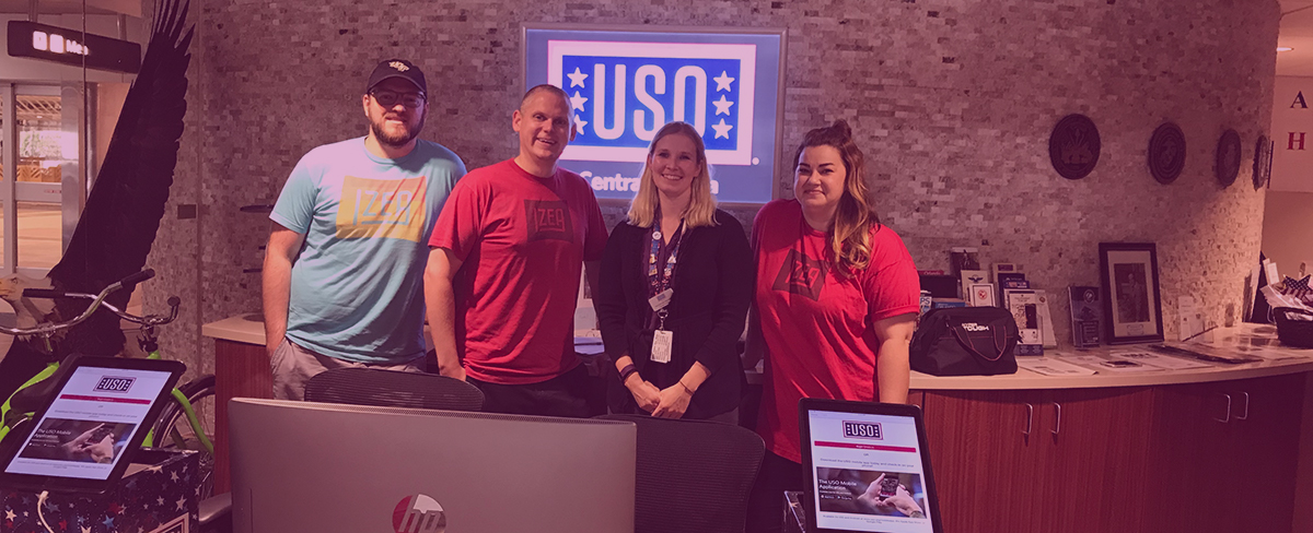 IZEACares Supports USO For Military Appreciation Month