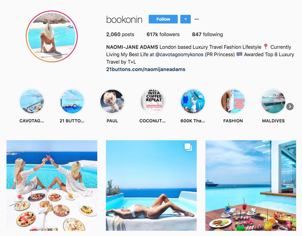 NAOMI-JANE ADAMS hotel influencers