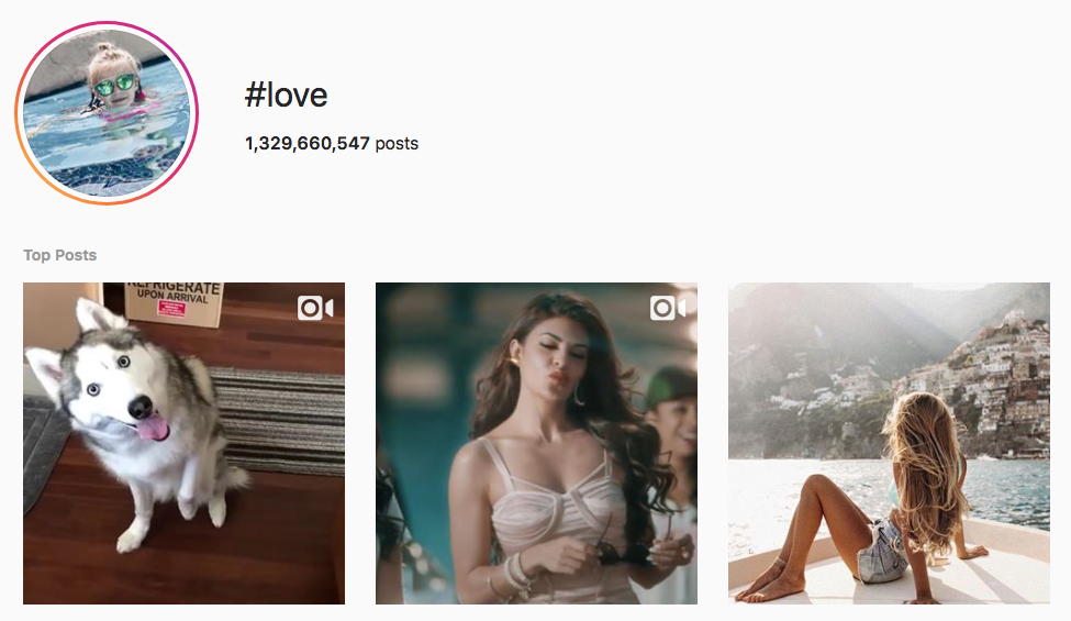 #love top instagram hashtags