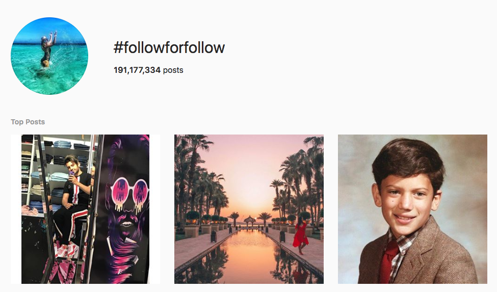 #followforfollow top instagram hashtags