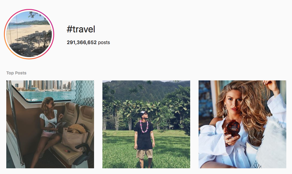 #travel top instagram hashtags