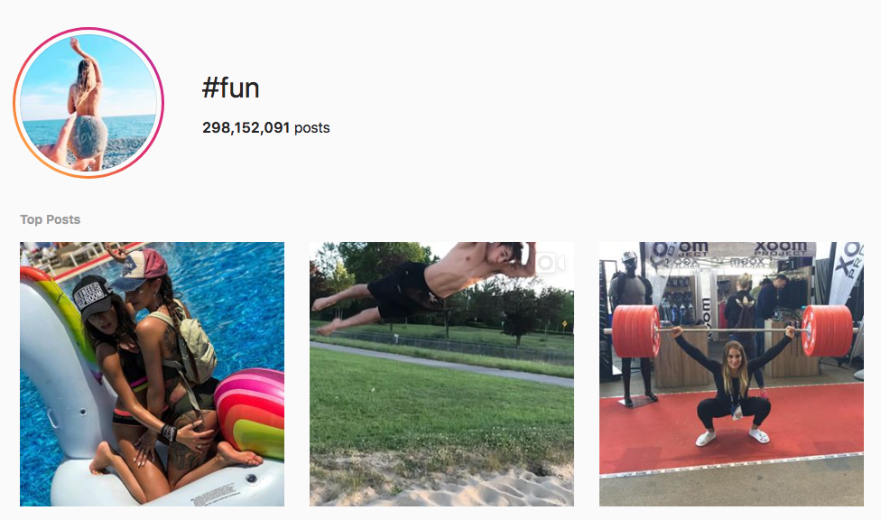 #fun top instagram hashtags