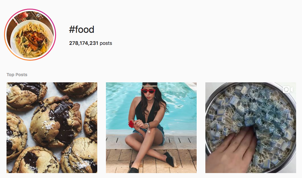 #food top instagram hashtags