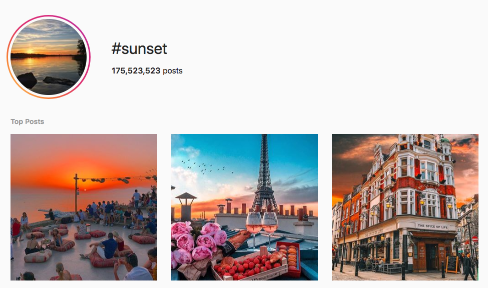 #sunset top instagram hashtags
