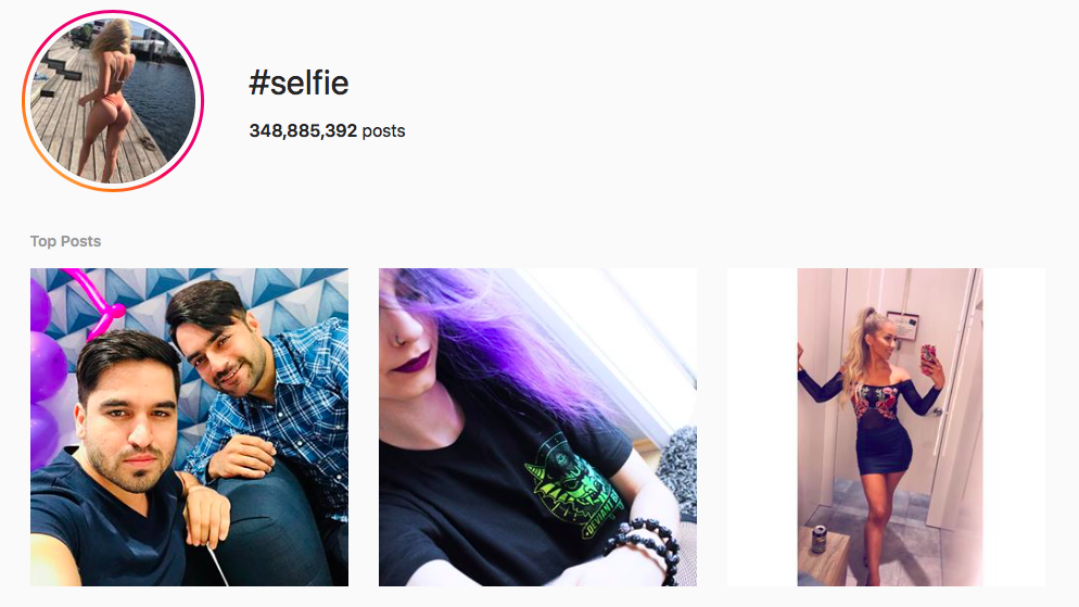 #selfie Best Instagram photography hashtags