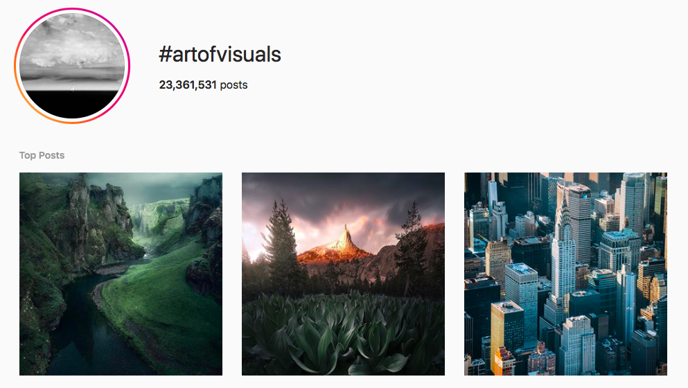 #artofvisuals best instagram photography hashtags