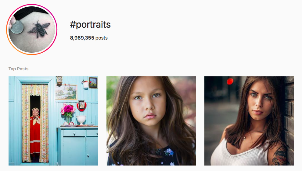 #portraits best instagram photography hashtags