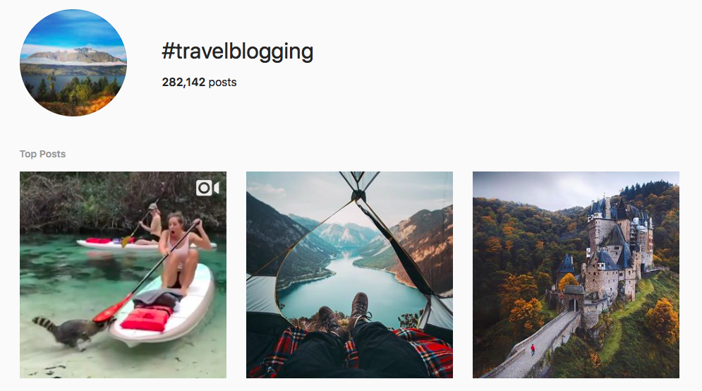 #travelblogging top travel hashtags