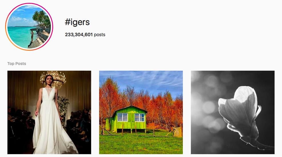 #igers Trending Instagram Hashtags
