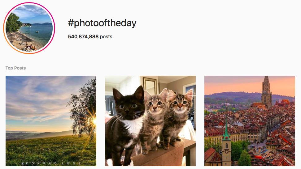 #photooftheday Trending Instagram Hashtags