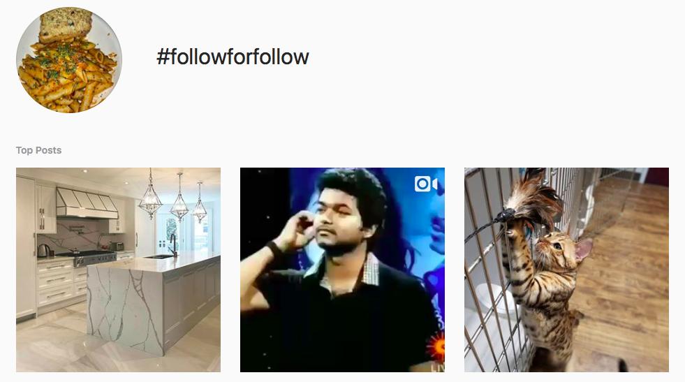 #followforfollow Trending Instagram Hashtags
