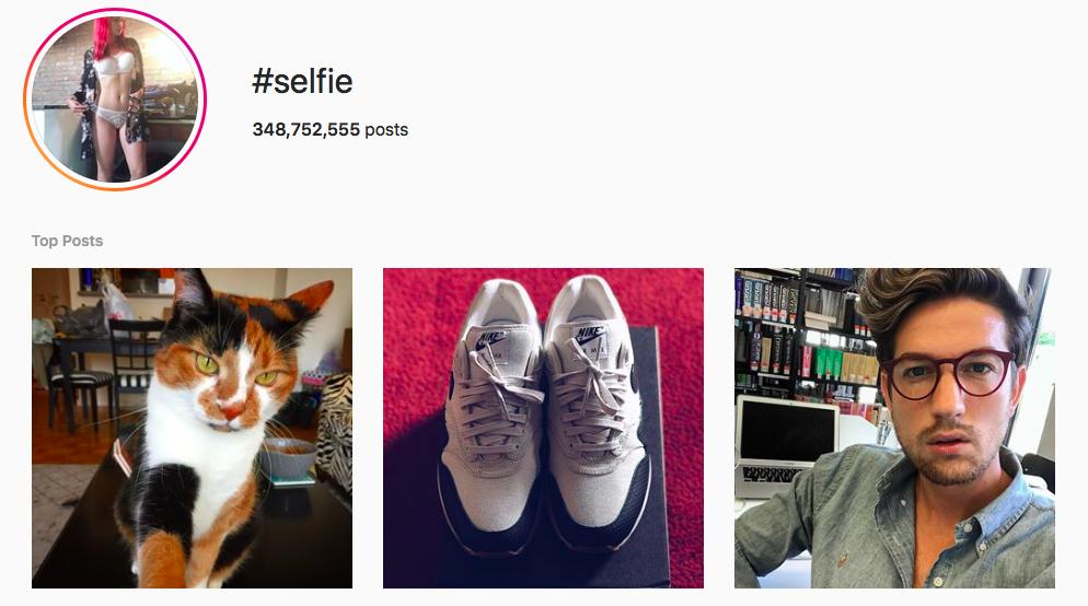 #selfie Trending Instagram Hashtags