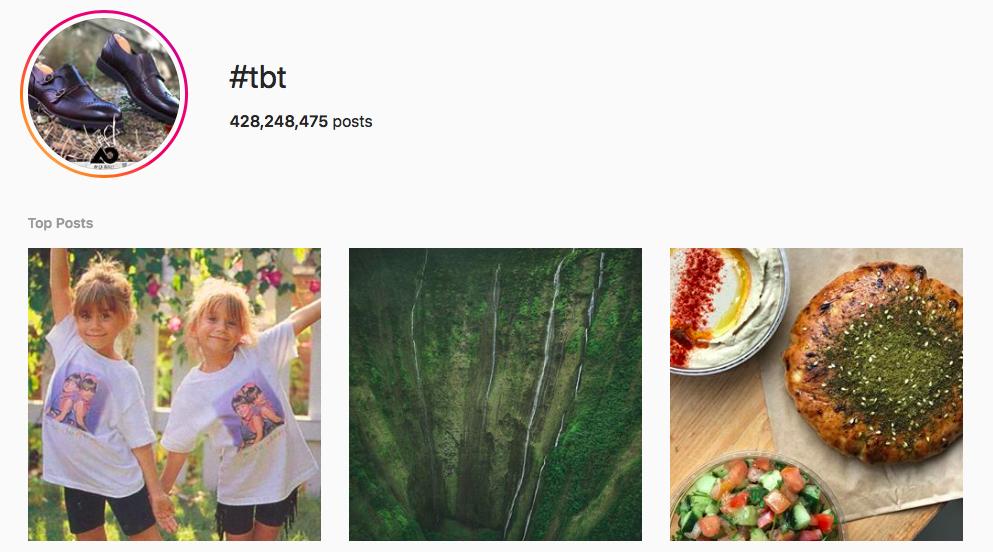 #tbt Trending Instagram Hashtags