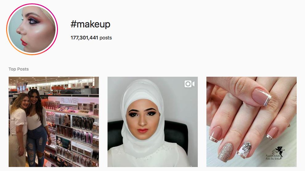 #makeup Trending Instagram Hashtags