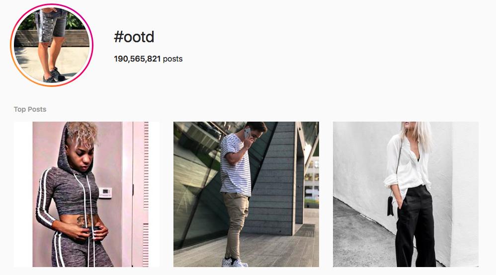 #OOTD Trending Instagram Hashtags