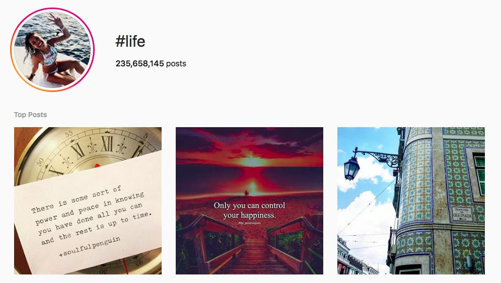#life Trending Instagram Hashtags