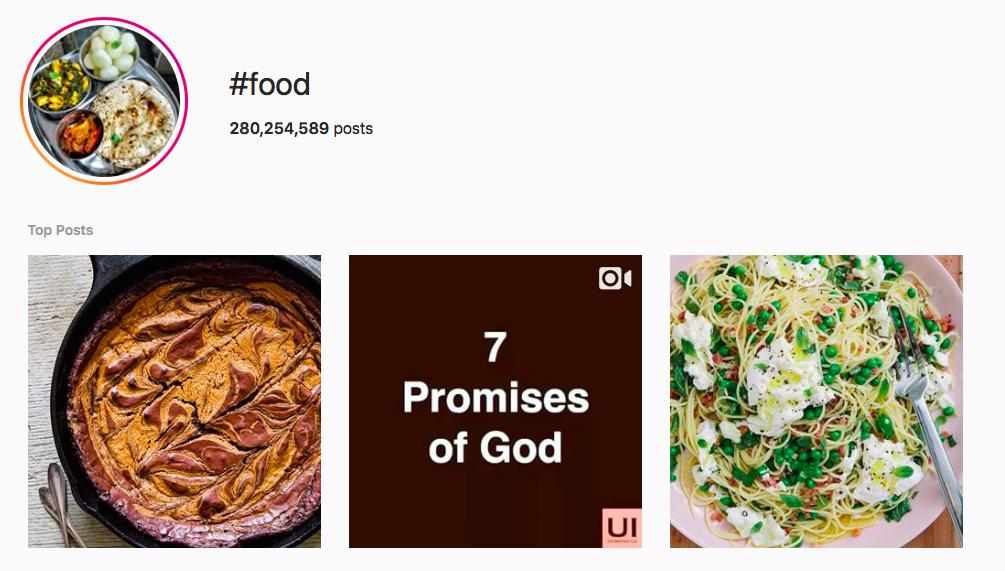 #food Trending Instagram Hashtags