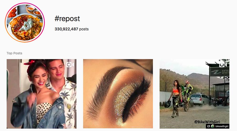 #repost Trending Instagram Hashtags