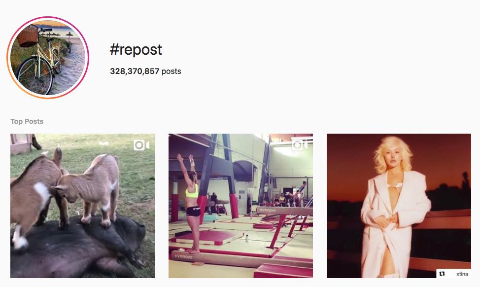 #repost top instagram hashtags