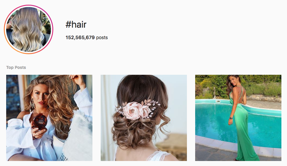 #hair top instagram hashtags