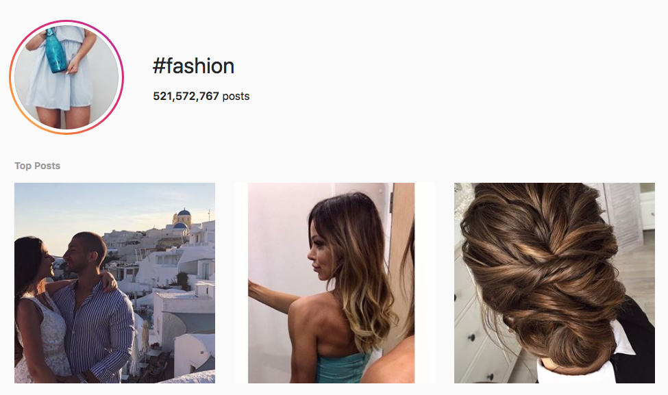#fashion top instagram hashtags