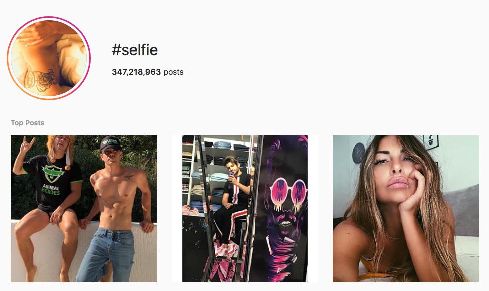 #selfie top instagram hashtags