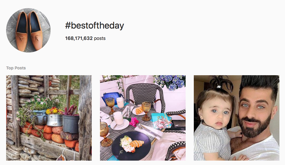 #bestoftheday top instagram hashtags