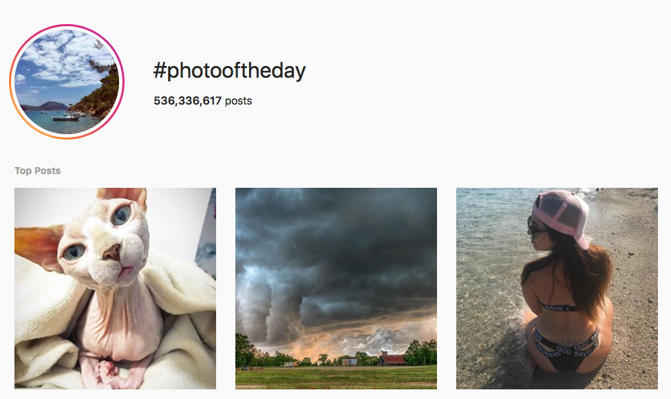 #photooftheday top instagram hashtags