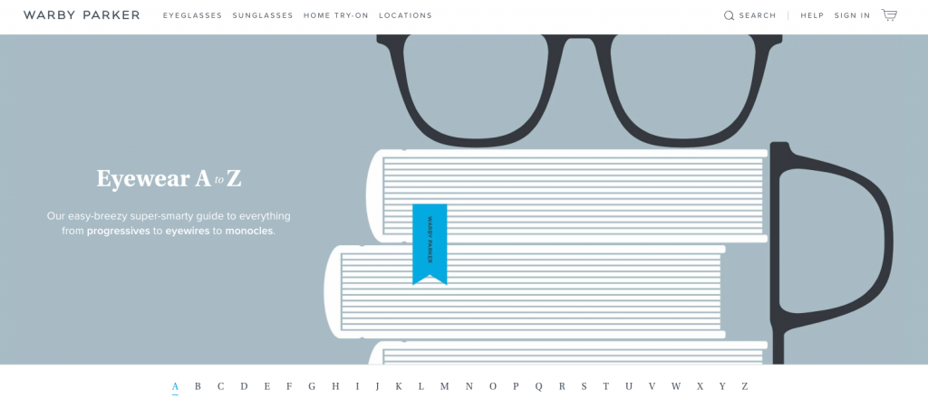 Warby Parker Top Ecommerce Content Marketing Examples