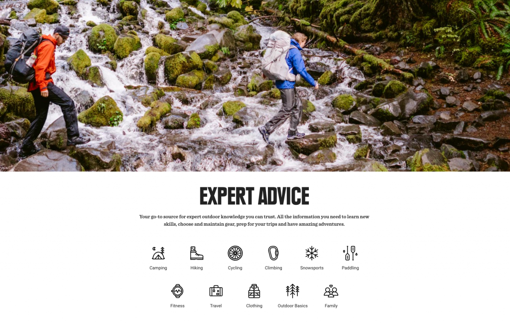 REI Ecommerce Content Marketing Examples
