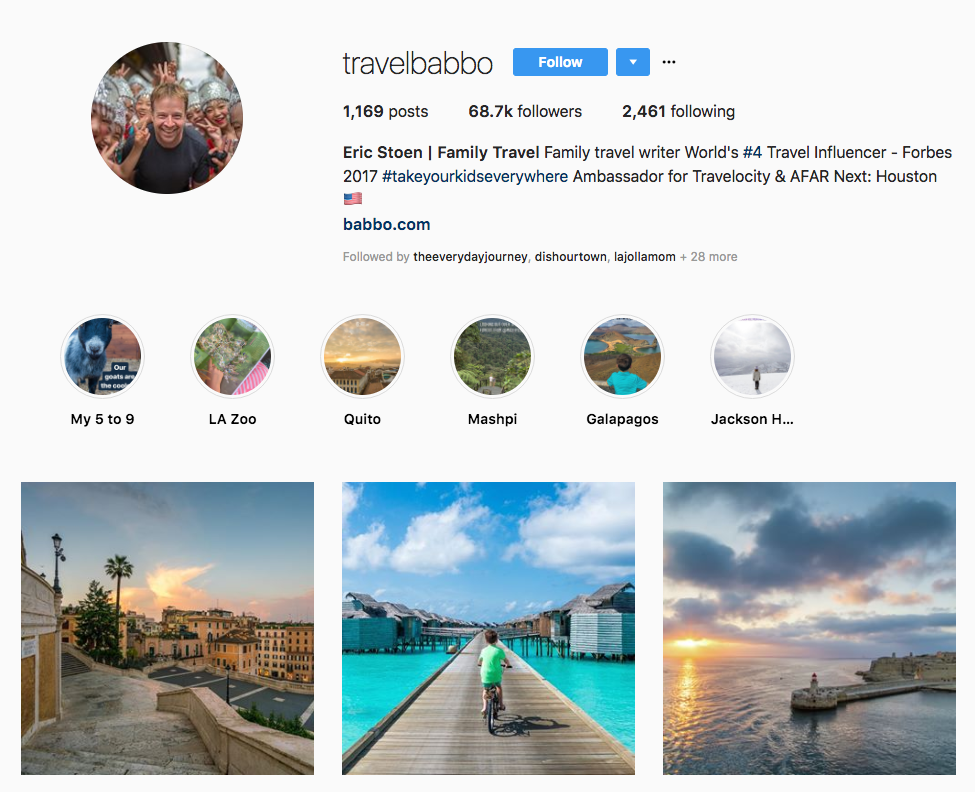 Eric Stoen | Family Travel hotel influencers