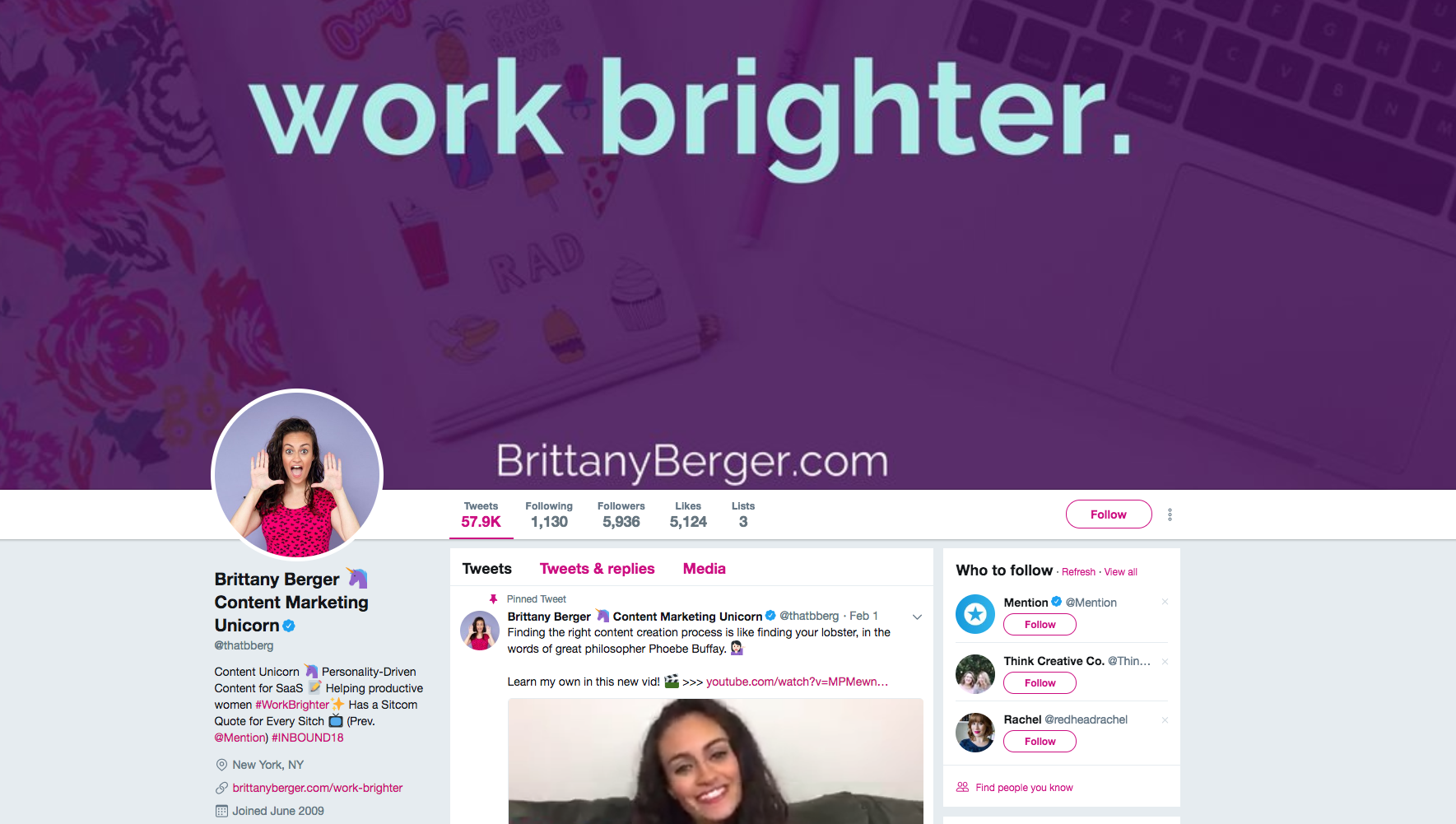 Brittany Berger top social media marketing influencers