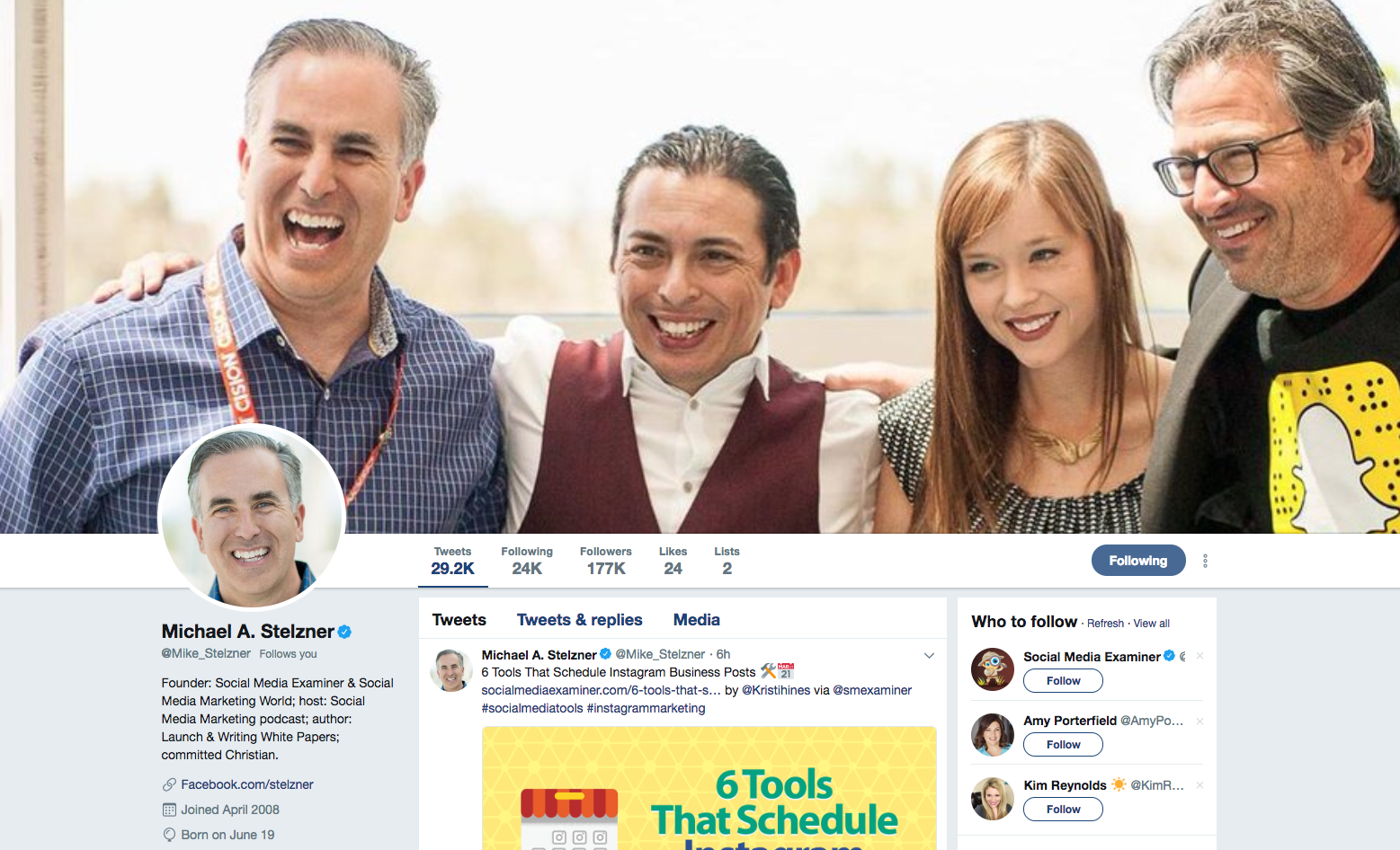 Michael Stelzner top social Media marketing influencers