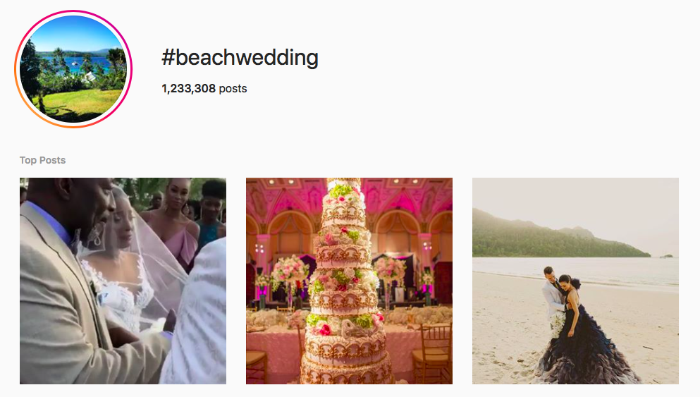 #beachwedding beach hashtags