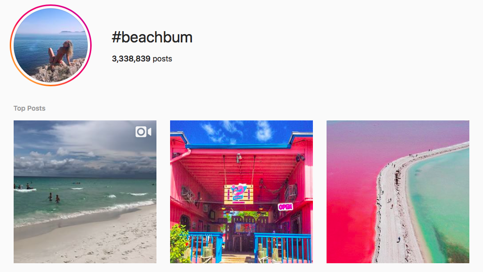 #beachbum beach hashtags