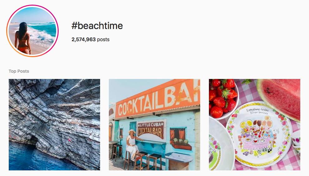 #beachtime beach hashtags