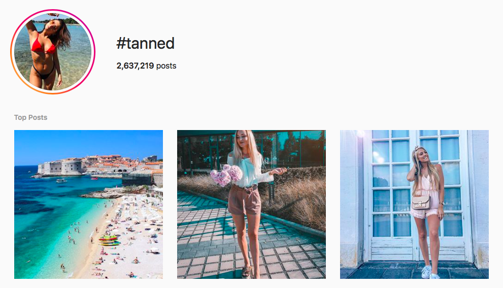 #tanned beach hashtags