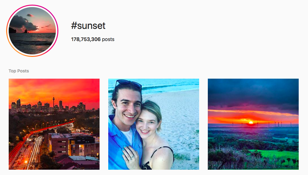 #sunset beach hashtags
