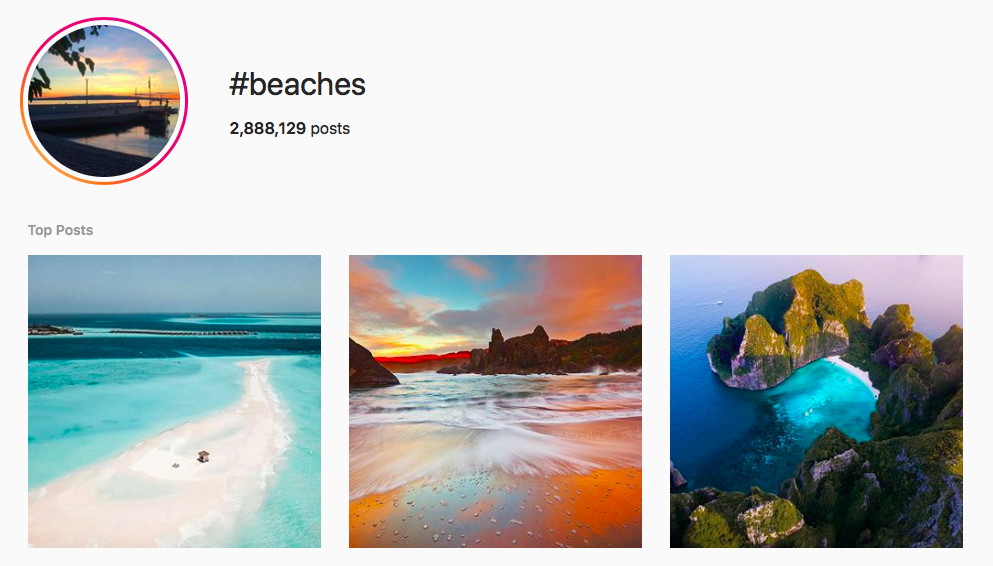 #beaches beach hashtags
