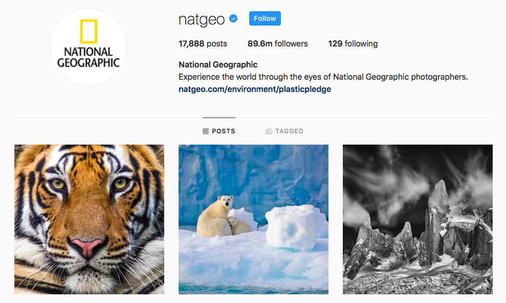 NatGeo Top IGTV Channels