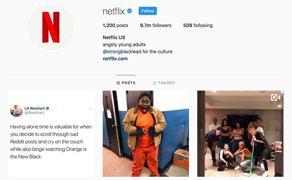 Netflix top IGTV Channels