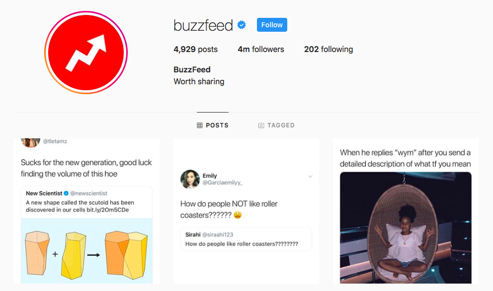 Buzzfeed Top IGTV Channels