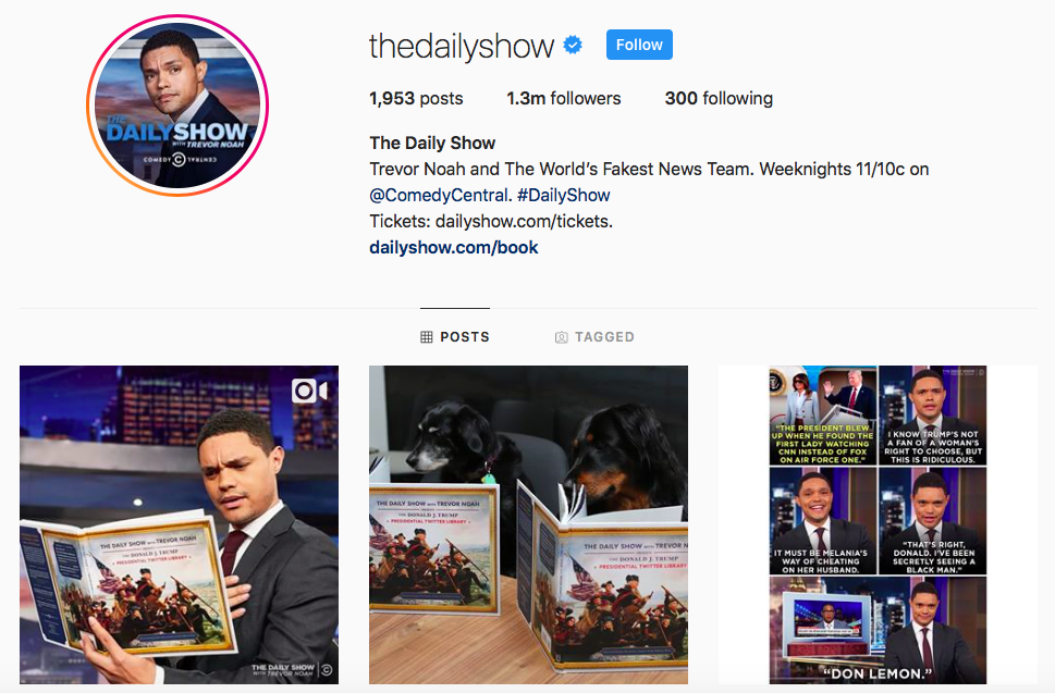 The Daily Show Top IGTV Channels