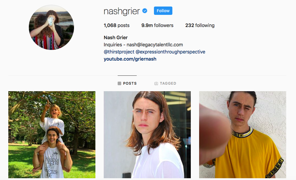Nash Grier Top IGTV Channels