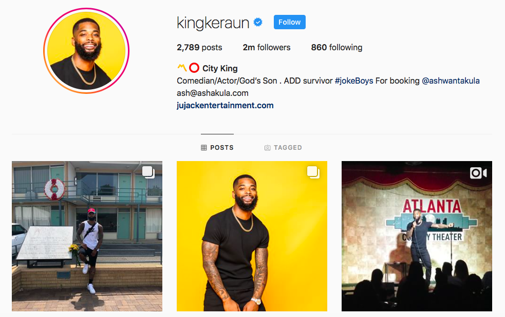 King Keraun Top IGTV Channels